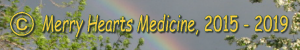 copyright symbol logo for Merry Hearts Medicine blog 2015 - 2019